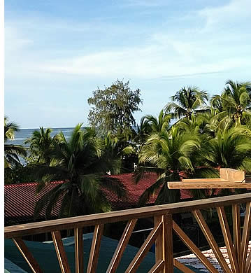 Top Balcony at 421 Guest House Hostel in Bocas del Toro, Panama